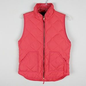 J. Crew Factory Coral Quilted Puffer Vest